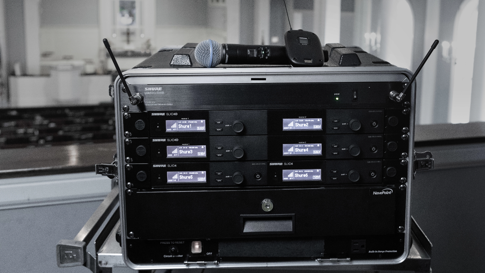SLX-D Wireless System Rack in House of Worship