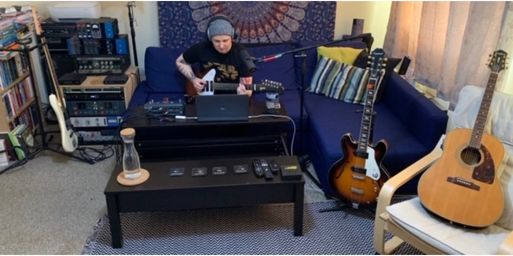 Musicians Collaborate Remotely while Recording at Home
