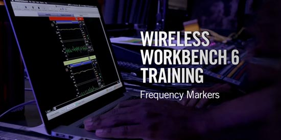 Shure Wireless Workbench<sup>®</sup> 6: Frequency Markers