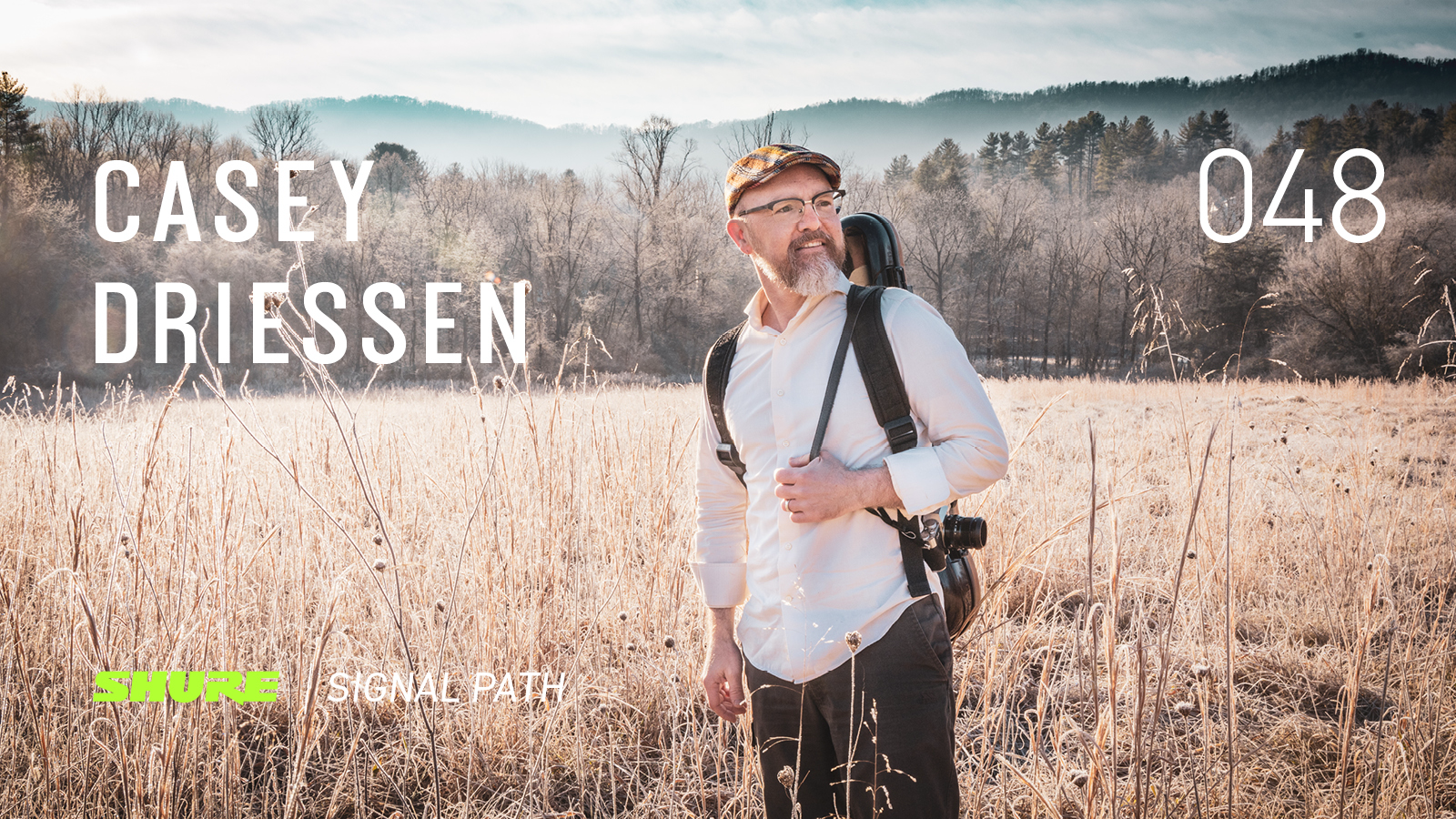 Casey Driessen in a field