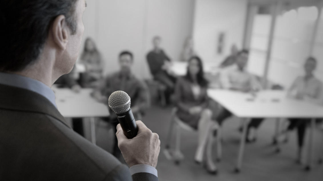 Tell Me About:  Handheld Wireless Microphones for Presenters