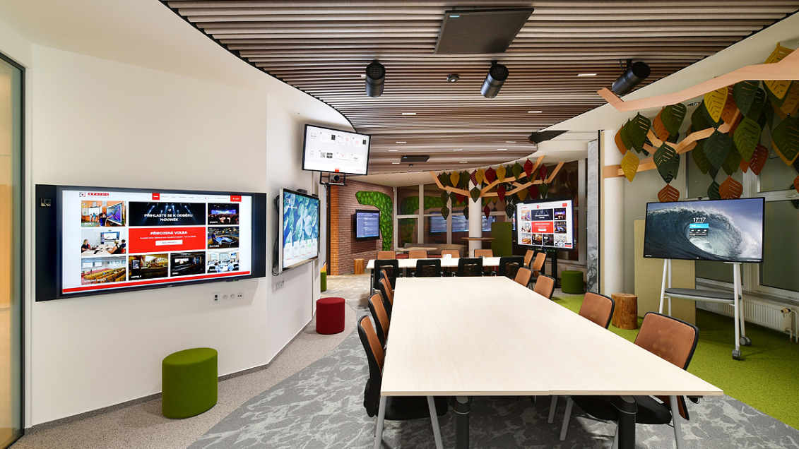 MXA910 Ceiling Array Microphones Enable Divisible Meeting Spaces at AV Media HQ