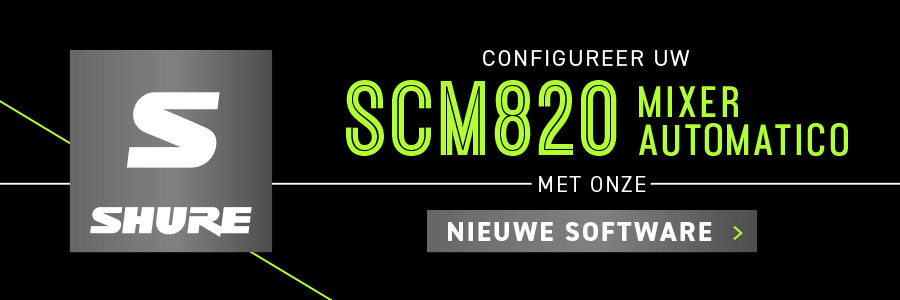 Configure your SCM820 Automatic Mixer with our new software app